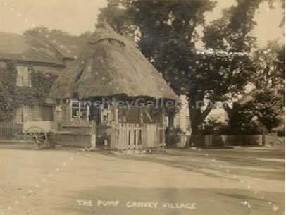 POSTCARD OF THE VILLAGE PUMP, CANVEY ISLAND, c1915
