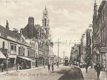 Colchester High Street and Town Hall, Essex