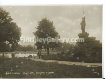 Friary Park, North Finchley (The boating pond is now filled in)