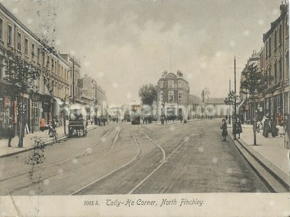 Tally Ho Corner and High Road, North Finchley 1916