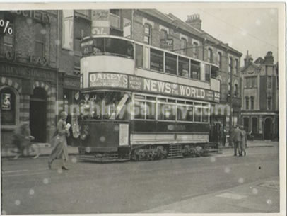 Tram at North Finchley 1933