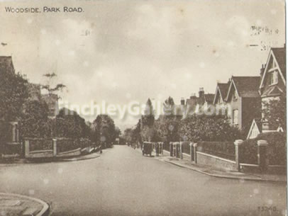 Woodside Park Road junction with Gainsborough Road and Woodside Avenue