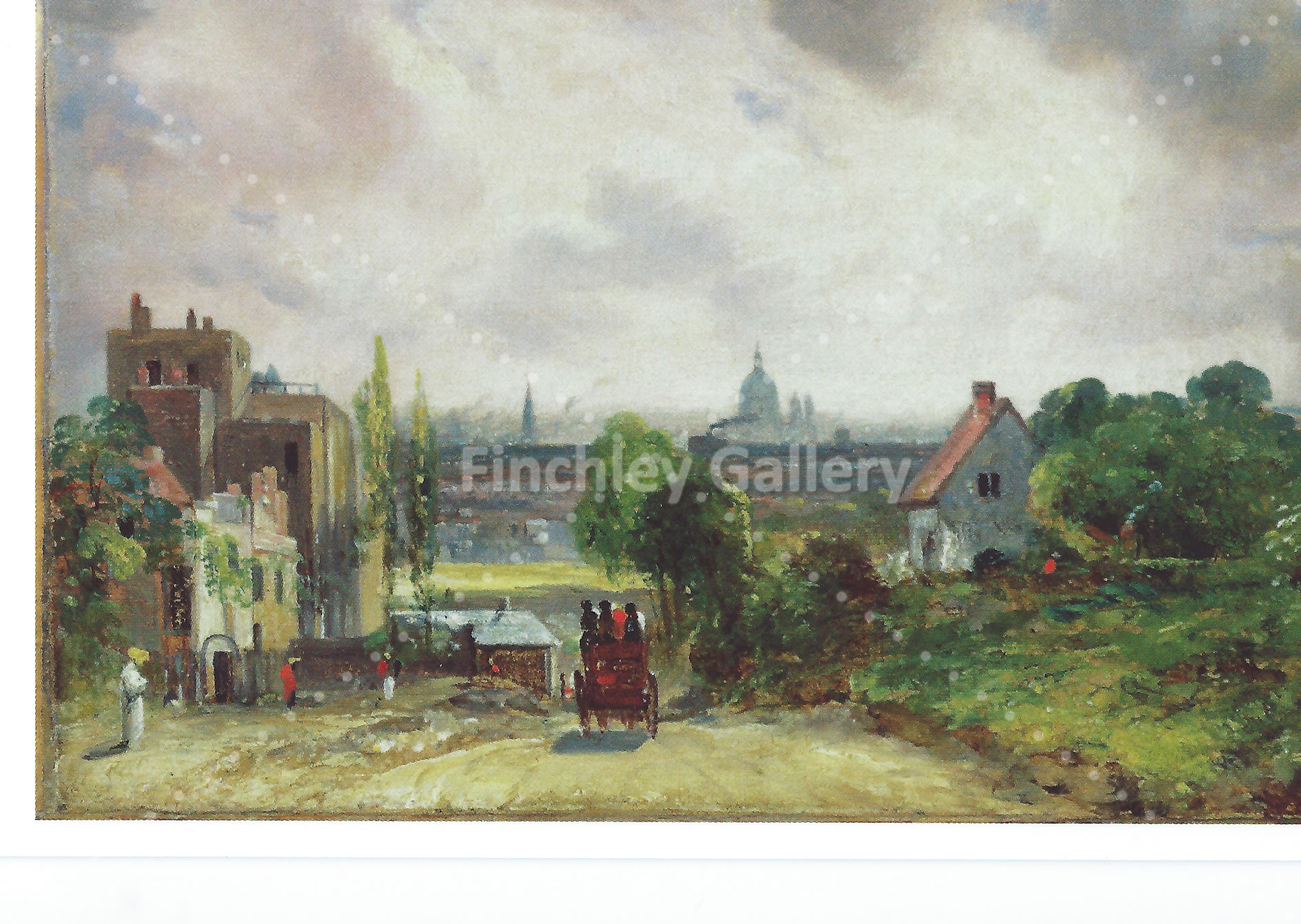 London from Highgate Old painting