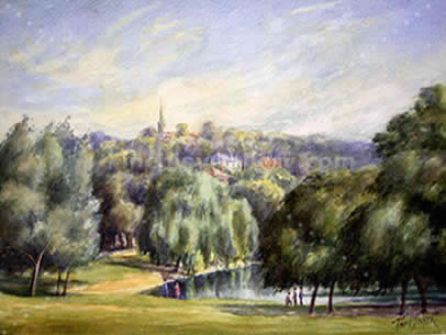 HIGHGATE FROM THE FIELDS, HAMPSTEAD, 1933