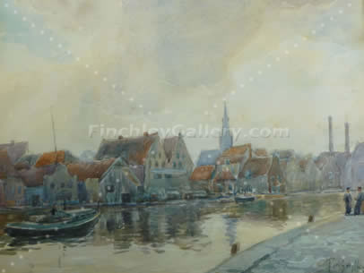 THE SPAARNE, HAARLEM, HOLLAND, 1928