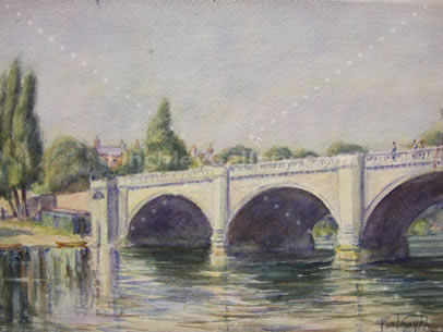 RICHMOND BRIDGE, SURREY, 1936