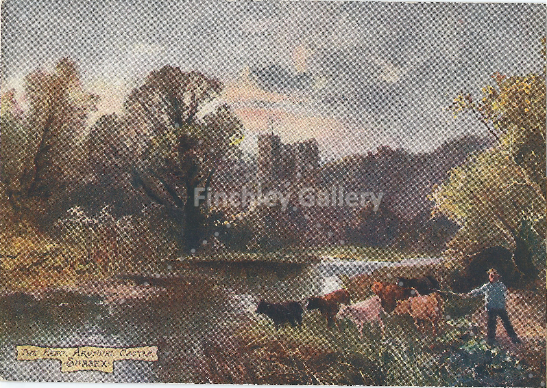 The Keep Arundel Castle Sussex Tucks Postcard
