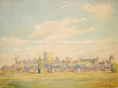 WINDSOR FROM ETON FIELDS, BERKSHIRE, 1935