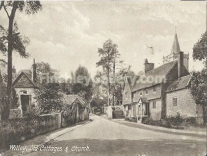 Witley old cottages and church, Surrey