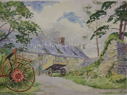 SHED IN THE PENTRE, TREGARON, SECOND PAINTING