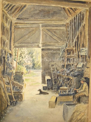 IN THE WOOD SHED, PENTRE, TREGARON